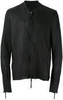 Cedric Jacquemyn - textured bomber leather jacket - men - Lamb Skin - 52
