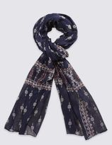 Marks and Spencer Border Mix Print Scarf