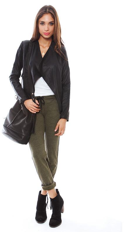 BB Dakota Chanelle Leather Jacket in Black
