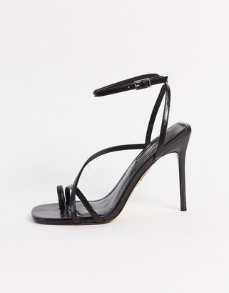 Topshop heeled sandals in black