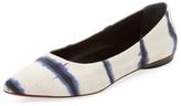 Proenza Schouler Tie Dye Stripe Pointed-Toe Flat