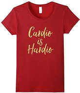 Women's Cardio Is Hardio Workout Tee Vision T-Shirt Small