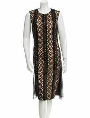 Prabal Gurung Lace-Accented Midi Dress w/ Tags Pink
