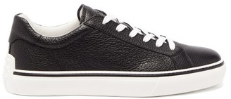 Tod's Grained-leather Trainers - Black