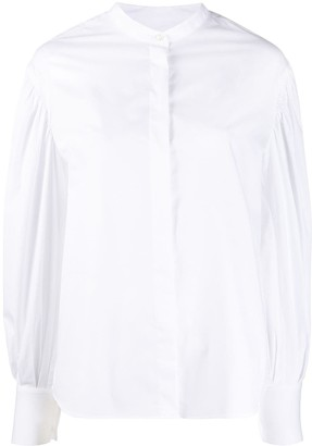 Officine Generale Long Sleeved Shirt With Balloon Sleeves