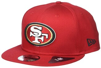 New Era NFL Basic Snap 9FIFTY Snapback Cap - San Francisco 49ers (Red 1) Caps