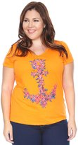 Grayson Shop Womens Plus Size Assorted Print Graphic Tee