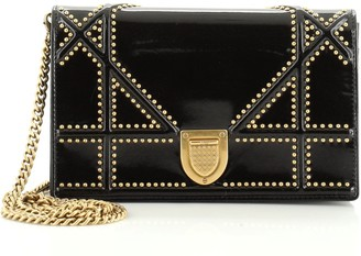 Christian Dior Diorama Wallet on Chain Studded Patent