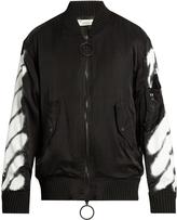 Off-White Spray-print bomber jacket
