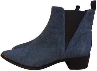 Acne Studios Jensen / Jenny Blue Cloth Ankle boots