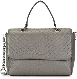 Karl Lagerfeld Paris Charlotte Quilted Leather Satchel