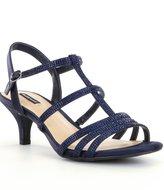 Alex Marie Liaa Jeweled Satin Dress Sandals
