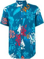 Drumohr floral print shirt - men - Linen/Flax - XL