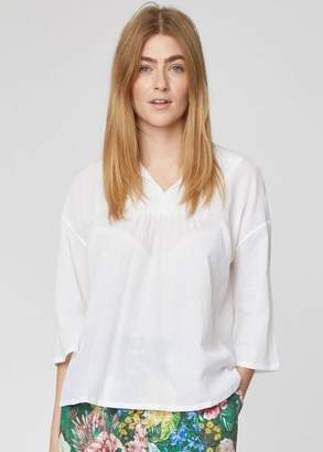 Thought - White Organic Cotton Loose Fit Blouse - 12 - White
