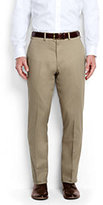 Classic Men's Plain Front Tailored Fit No Iron Chino Pants-White