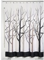 InterDesign Forest Shower Curtain, Gray and Black 54 x 78-Inch