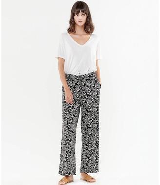 Le Temps Des Cerises Floral Print Wide Pants