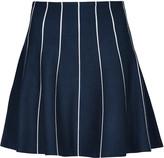 Apricot Navy & White Stripe Pattern Mini Skirt