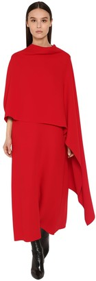Valentino Long Silk Cady Cape Dress