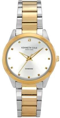 Kenneth Cole New York Women's Classic Diamond Detail Watch, 34mm, 0.9 ctw