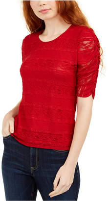American Rag Juniors' Tie-Back Lace Blouse