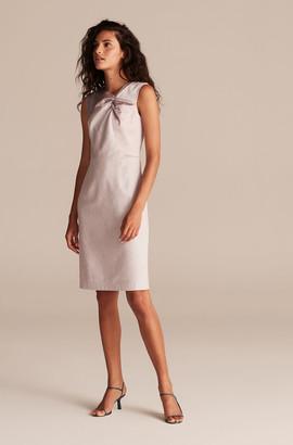 Rebecca Taylor Tailored Slubby Twill Suiting Dress