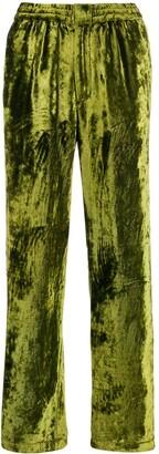 Ami Paris Velvet Wide Leg Trousers