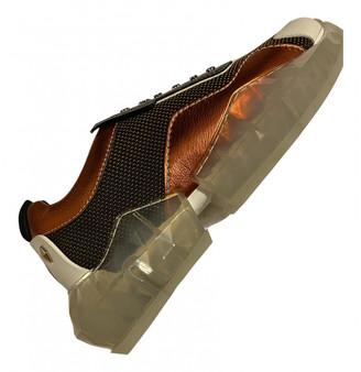 Jimmy Choo Diamond Trail Orange Leather Trainers