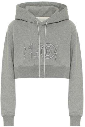 MM6 MAISON MARGIELA Logo cotton-jersey hoodie
