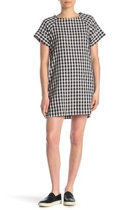 Vanity Room Short Sleeve Pocketed Shift Dress