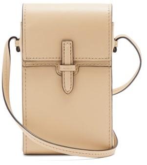 Hunting Season Mini Leather Cross-body Bag - Beige