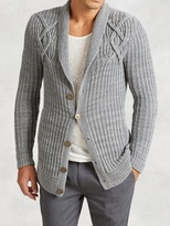 John Varvatos Artisan Cable Knit Cardigan