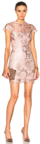 Lover Opium Fitted Mini Dress in Pink,Metallics.