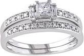 JCPenney FINE JEWELRY 1/2 CT. T.W. Princess & Round Diamond Bridal Ring Set