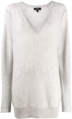 Theory Long V-Neck Jumper