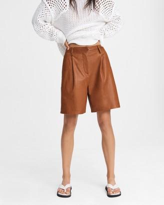 Rag & Bone Ivy leather short