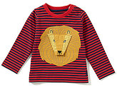 Joules Baby Boys 12 Months-3T Chomp Lion-Appliqued Striped Top