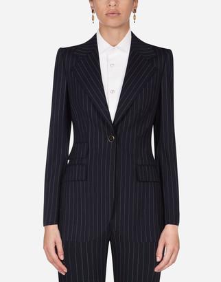 Dolce & Gabbana Pin-Stripe Wool Blazer