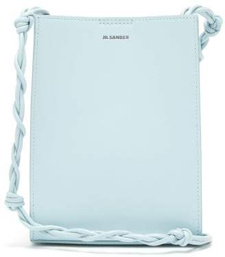 Jil Sander Tangle Small Knotted-strap Leather Cross-body Bag - Womens - Light Blue