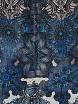 Helmut Lang Mandala wet-print volume shorts