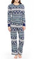 Sleep Sense Petite Snowflake Fair Isle Pajamas