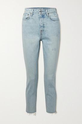 GRLFRND Karolina Frayed High-rise Skinny Jeans - Light denim