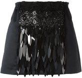 No.21 sequin embellished mini skirt