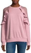 Arizona Ruffle Sweatshirt-Juniors
