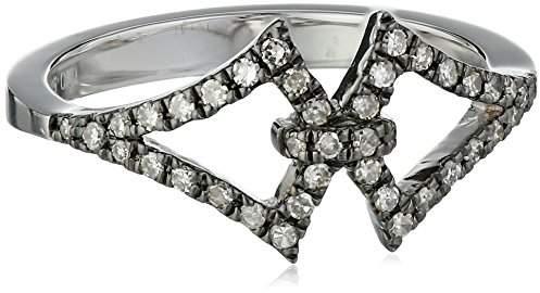 Badgley Mischka Fine Jewelry Champagne Diamond Interlocking Arabesque Ring