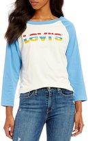 Levi's s Rainbow Graphic Raglan Tee