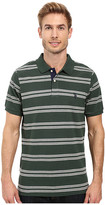 U.S. Polo Assn. Short Sleeve Balanced Stripe Pique Polo Shirt