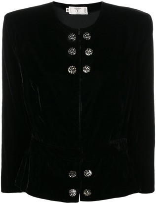 Valentino Pre-Owned 1980's Collarless Fitted Jacket