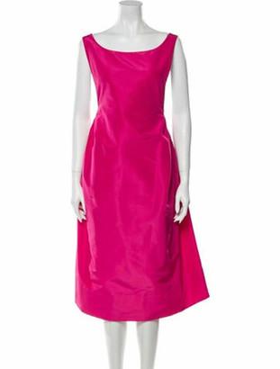 Rochas Bateau Neckline Knee-Length Dress Pink