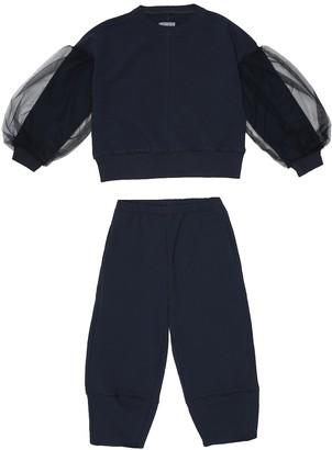 Il Gufo Cotton sweatshirt and trackpants set